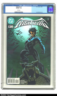 Nightwing #2 (DC, 1996) CGC NM/MT 9.8 White pages. Overstreet 2002 NM 9.4 value = $5