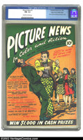 Golden Age (1938-1955):Non-Fiction, Picture News #3 (Lafayette Street Corp., 1946) CGC NM- 9.2Off-white to white pages. Overstreet 2002 NM 9.4 value = $165....