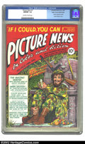Golden Age (1938-1955):Non-Fiction, Picture News #4 (Lafayette Street Corp., 1946) CGC NM/MT 9.8Off-white to white pages. Overstreet 2002 NM 9.4 value = $185. ...