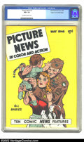 Golden Age (1938-1955):Non-Fiction, Picture News #5 (Lafayette Street Corp., 1946) CGC NM- 9.2Off-white to white pages. Overstreet 2002 NM 9.4 value = $130....