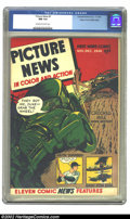 Golden Age (1938-1955):Non-Fiction, Picture News #9 (Lafayette Street Corp., 1946) CGC NM 9.4 Off-whiteto white pages. Overstreet 2002 NM 9.4 value = $165....