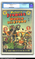 Golden Age (1938-1955):Non-Fiction, Picture Stories from World History #1 Gaines File pedigree 8/11(Eastern Color, 1947). CGC VF/NM 9.0 Off-white pages. Overst...