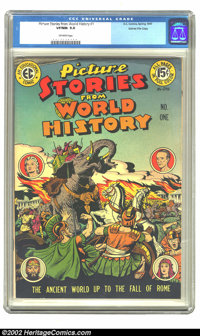 Picture Stories from World History #1 Gaines File pedigree 8/11 (Eastern Color, 1947). CGC VF/NM 9.0 Off-white pages. Ov...