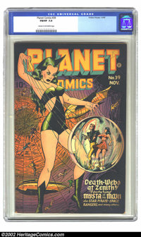 Planet Comics #39 (Fiction House, 1945) CGC FN/VF 7.0 Cream to off-white pages. Overstreet 2002 FN 6.0 value = $231; VF...