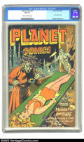 Golden Age (1938-1955):Science Fiction, Planet Comics #41 (Fiction House, 1946) CGC FN 6.0 Cream tooff-white pages. New origin of Auro, Lord of Jupiter; Murphy And...