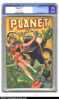 Golden Age (1938-1955):Science Fiction, Planet Comics #42 (Fiction House, 1946) CGC VF/NM 9.0 Cream tooff-white pages. Murphy Anderson art features the last Gale A...