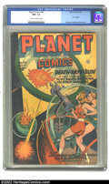 Golden Age (1938-1955):Science Fiction, Planet Comics #43 (Fiction House, 1946) CGC NM- 9.2 Cream tooff-white pages. Futura begins; Moriera, Anderson & Renee art....