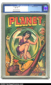Planet Comics #44 (Fiction House, 1946) CGC VF- 7.5 Light tan to off-white pages. Anderson, Lubbers & Moriera art. O...