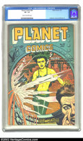 Golden Age (1938-1955):Science Fiction, Planet Comics #49 (Fiction House, 1947) CGC VF- 7.5 Cream tooff-white pages. Anderson, Evans and Renee art. Overstreet 2002...