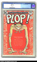 Plop #1 (DC, 1973) CGC NM+ 9.6 White pages. Wrightson, Evans & Aragones art. Overstreet 2002 NM 9.4 value = $30
