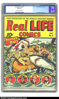 Real Life Comics #11 (Nedor Publications, 1943) CGC NM- 9.2 Cream to off-white pages. Alex Schomburg cover. Overstreet 2...