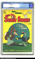 Golden Age (1938-1955):Funny Animal, Real Screen Funnies #1 (DC, 1945) CGC FN 6.0 White pages.Overstreet 2002 FN 6.0 value = $300....
