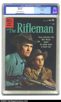 Rifleman #3 FIle Copy (Dell, 1960) CGC NM 9.4 Cream to off-white pages. Great Western photo cover. Alex Toth art. Overst...