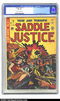 Saddle Justice #7 (EC, 1949) CGC FN- 5.5 Cream to off-white pages. Graham Ingels cover and art. Overstreet 2002 FN 6.0 v...