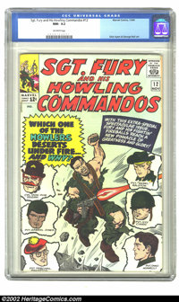 Sgt. Fury #12 (Marvel) CGC NM- 9.2 Off-white pages. Overstreet 2002 NM 9.4 value = $80