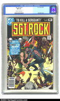 Bronze Age (1970-1979):War, Sgt. Rock #319 (DC, 1978) CGC NM 9.4 Off-white to white pages. Extremely nice, high-grade book with incredible page quality!...