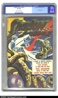 Shadow Comics Vol. 4, #10 (Street & Smith, 1945) CGC VF 8.0 Cream to off-white pages. Overstreet VF 8.0 value = $257...
