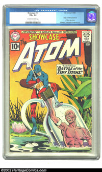 Showcase #34 (DC, 1961) CGC VG+ 4.5 Off-white to white pages. This issue marks the first appearance of the Silver Age At...
