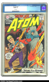 Showcase #35 (DC, 1961) CGC VG/FN 5.0 White pages. Overstreet 2002 GD 2.0 value = $61; FN 6.0 value = $182