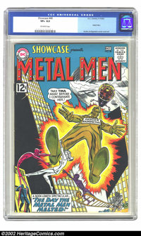 Showcase #40 (DC, 1962) CGC VF+ 8.5 Off-white pages. This issue features the Metal Men. Overstreet 2002 VF 8.0 value = $...