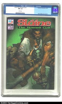Slaine The Horned God #1 (Fleetway, 1990) CGC NM- 9.2 White pages. Simon Bisley cover and art. Overstreet 2002 NM 9.4 va...