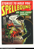 Golden Age (1938-1955):Horror, Spellbound #4 (Atlas, 1952) Condition = FN/VF. Classic Russ Heathcover....