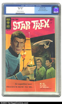 Star Trek #1 (Gold Key, 1967) CGC VF- 7.5 Off-white to white pages. Back cover variant; Photo front cover & back cov...
