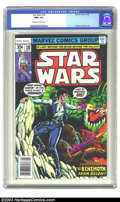 Bronze Age (1970-1979):Science Fiction, Star Wars #10 (Marvel, 1978) CGC NM+ 9.6 Off-white to white pages. Overstreet 2002 NM 9.4 value = $12....