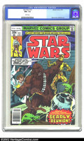 Bronze Age (1970-1979):Science Fiction, Star Wars #13 (Marvel, 1978) CGC NM+ 9.6 White pages. Overstreet 2002 NM 9.4 value = $12....
