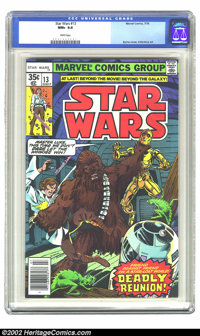 Star Wars #13 (Marvel, 1978) CGC NM+ 9.6 White pages. Overstreet 2002 NM 9.4 value = $12