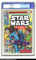 Bronze Age (1970-1979):Science Fiction, Star Wars #16 (Marvel, 1978) CGC NM/MT 9.8 Off-white to white pages. Overstreet 2002 NM 9.4 value = $12....