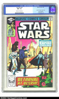 """Modern Age (1980-Present):Science Fiction, Star Wars #43 (Marvel, 1981) CGC NM+ 9.6 Off-white to white pages.This issue features part 5 of """"The Empire Strikes Back"""". ..."""