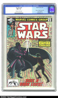 "Modern Age (1980-Present):Science Fiction, Star Wars #44 (Marvel, 1981) CGC NM+ 9.6 Off-white to white pages. This issue contains part 6 of ""The Empire Strikes Back"". ..."
