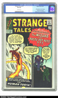 Silver Age (1956-1969):Superhero, Strange Tales #110 (Atlas, 1963) CGC VF 8.0 Off-white pages. This issue features the first appearance of Dr. Strange, Ancien...