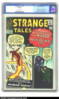 Strange Tales #110 (Atlas, 1963) CGC VF 8.0 Off-white pages. This issue features the first appearance of Dr. Strange, An...