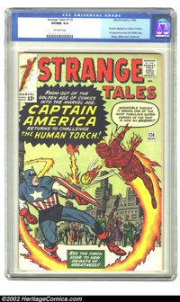 Strange Tales #114 (Atlas, 1963) CGC VF/NM 9.0 Off-white pages. This issue features Acrobat disguised as Captain America...
