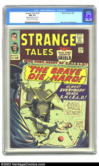 """Strange Tales #139 (Atlas, 1965) CGC NM 9.4 Cream to white pages. CGC notes: """"Manufactured with 1 staple only""""..."""