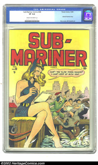 Sub-Mariner Comics #28 (Timely, 1948) CGC VF 8.0 Cream to off-white pages. Blonde Phantom story; Rico cover, Bill Everet...
