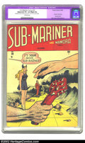 "Golden Age (1938-1955):Superhero, Sub-Mariner Comics #29 (Timely, 1948) CGC Apparent VF+ 8.5 Slight (A) Off-white pages. CGC notes: ""Restoration includes: sma..."