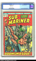 Bronze Age (1970-1979):Superhero, The Sub-Mariner #47 (Marvel, 1972) CGC NM 9.4 Off-white to white pages. Gene Colan and Mike Esposito art. Overstreet 2002 NM...