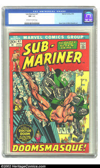 The Sub-Mariner #47 (Marvel, 1972) CGC NM 9.4 Off-white to white pages. Gene Colan and Mike Esposito art. Overstreet 200...