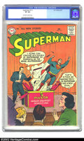 Silver Age (1956-1969):Superhero, Superman #111 (DC, 1957) CGC VF 8.0 Off-white to white pages. Overstreet 2002 VF 8.0 value = $185....