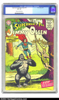 Silver Age (1956-1969):Superhero, Superman's Pal Jimmy Olsen #10 (DC, 1956) CGC VF- 7.5 Cream to off-white pages. Very scarce 1950s DC. Overstreet 2002 VF 8.0...