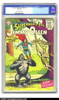 Superman's Pal Jimmy Olsen #10 (DC, 1956) CGC VF- 7.5 Cream to off-white pages. Very scarce 1950s DC. Overstreet 2002 VF...