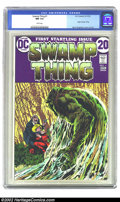 Bronze Age (1970-1979):Horror, Swamp Thing #1 (DC, 1972) CGC NM 9.4 White pages. This issuefeatures the origin of Swamp Thing. Overstreet 2002 NM 9.4 valu...