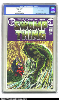 Swamp Thing #1 (DC, 1972) CGC NM 9.4 White pages. This issue features the origin of Swamp Thing. Overstreet 2002 NM 9.4...