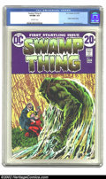 Bronze Age (1970-1979):Horror, Swamp Thing #1 (DC, 1972) CGC VF/NM 9.0 Off-white pages. OriginSwamp Thing, Berni Wrightson cover and art. Overstreet 2002 ...
