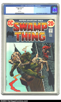 Swamp Thing #2 (DC, 1973) CGC NM 9.4 White pages. Overstreet 2002 NM 9.4 value = $55