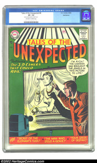 """Tales of the Unexpected #8 Bethlehem pedigree (DC, 1956) CGC VF- 7.5 Off-white to white pages. CGC notes: """"Store an..."""