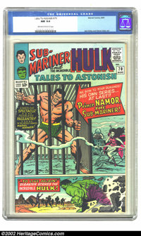 Tales to Astonish #70 (Marvel, 1965) CGC NM 9.4 Off-white to white pages. Jack Kirby and Gene Colan art. Overstreet 2002...